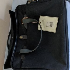 Filson canvas and leather briefcase